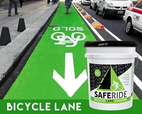 Viaker producto: SAFERIDE™ BICYCLE LANE COATING